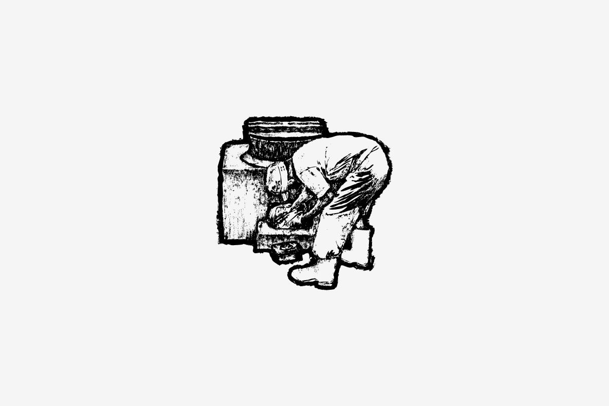 火入れのイラストレーション